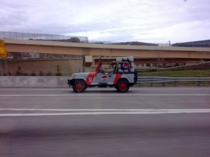 Jurassic Park jeep and Companion Cube