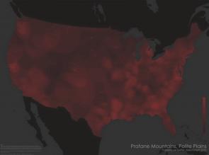 Twitter Profanity Map