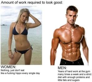 It's easier for a girl…