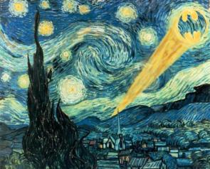 Starry night-batman edition