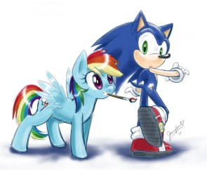sonic meets ponnies