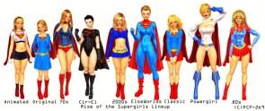 evolution of super girl
