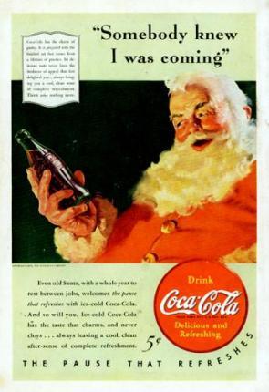 Santa is all about Coke. No joke!