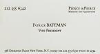 Patrick Bateman Card