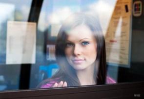 hotie behind window