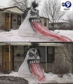 KISS snowman