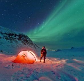 Aurora borealis camp-out