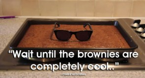 Wait until the brownies are cool