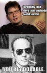 Hunter S. Thompson on Charlie Sheen