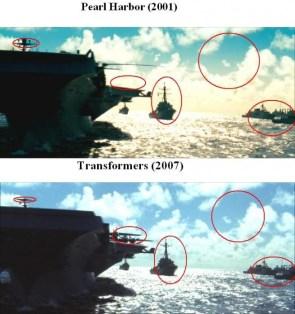 Pearl harbor vs. transformers