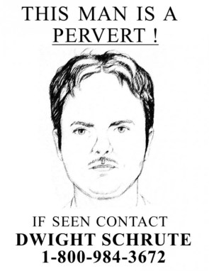 Dwight Schrute wanted poster