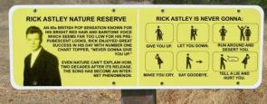 Warning: Rick Astley Zone