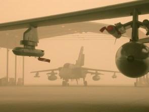 planes in duststorm
