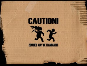 zombies ARE flammable
