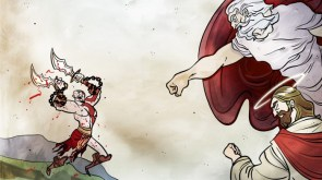 kratos fights christanity