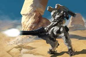 robot firing gun