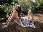 yoga in a dress
