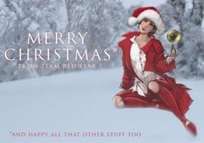 A Red Star Merry Christmas