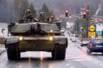tank on road