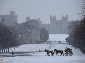 Windsor Castle in Winter wallpaper