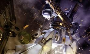 robot with a shotgun