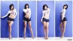 asian blue shorts