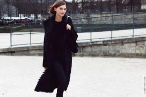 walking in black