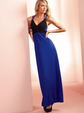 blue and black dress