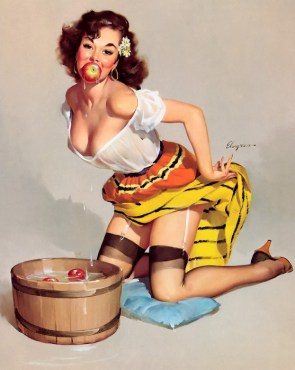 Apple bob Pin-up