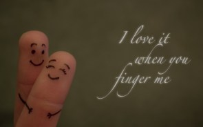 Happy love fingers
