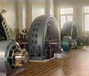 Alternators in Budapest circa 1910