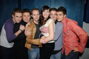 Liv Tyler, the Hobbits, and Orlando Bloom