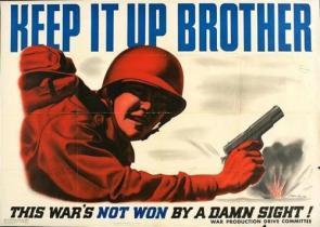 American WW2 Propaganda Poster