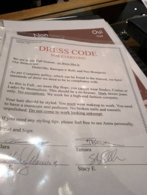 Dress Code for Everyone