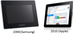 Apple sues Samsung for copying it's 2010 design.