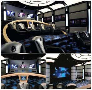 Star Trek Enterprise Bridge Home Theater