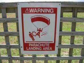 Beware of parachuters!