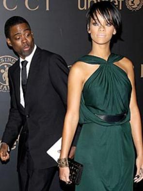 Chris Rock Checks out Rihanna