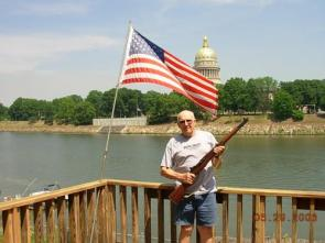 WWII veteran and his rifle