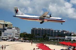 Dangerously low flying plane