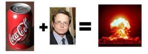 Michael J Fox + Cola = Nuclear Explosion