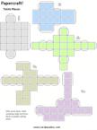3D Tetris Papercraft