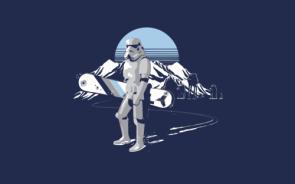 Snow boarding stormtrooper