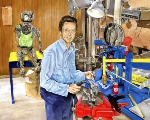 Christopher Walken building Optimus Prime