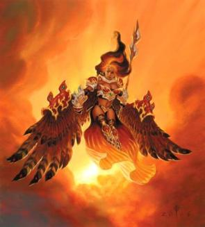 Akroma, Angel Of Fury , Magic The Gathering Card Original Artwork