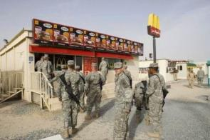 American Troops enjoying a fine meal