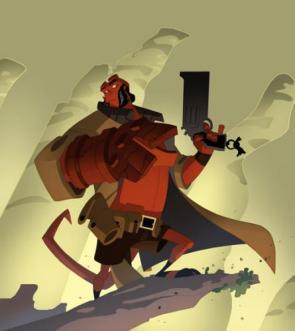 Hellboy as a 'toon