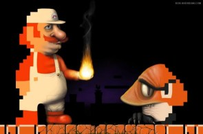 Real Mario and Goomba