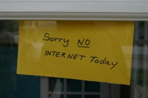 Sorry, no internet today