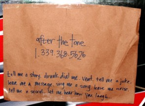 Found sign – After the tone